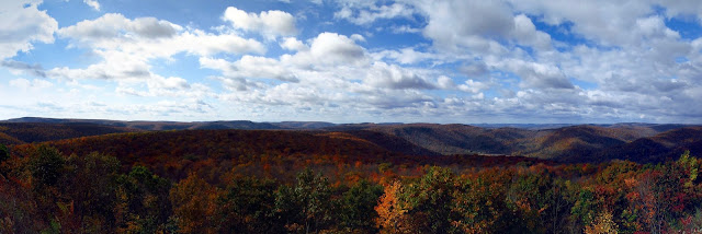 autumn mountains, World's End State Park, PA