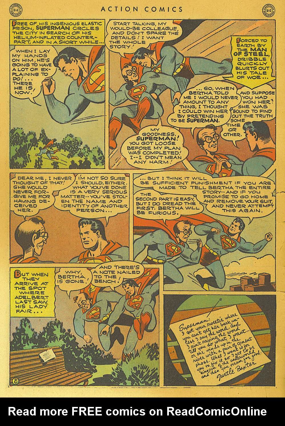 Read online Action Comics (1938) comic -  Issue #74 - 10