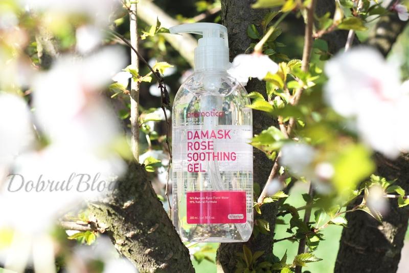 AROMATICA-  Damask Rose Soothing Gel, czyli bez róż ani rusz.