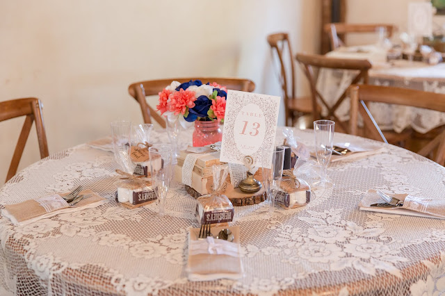 Shenandoah Mill Wedding Table Decor