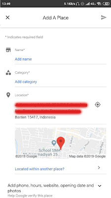 isi data lokasi google maps