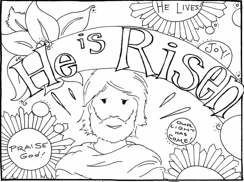It's just a photo of Fabulous jesus is alive coloring page