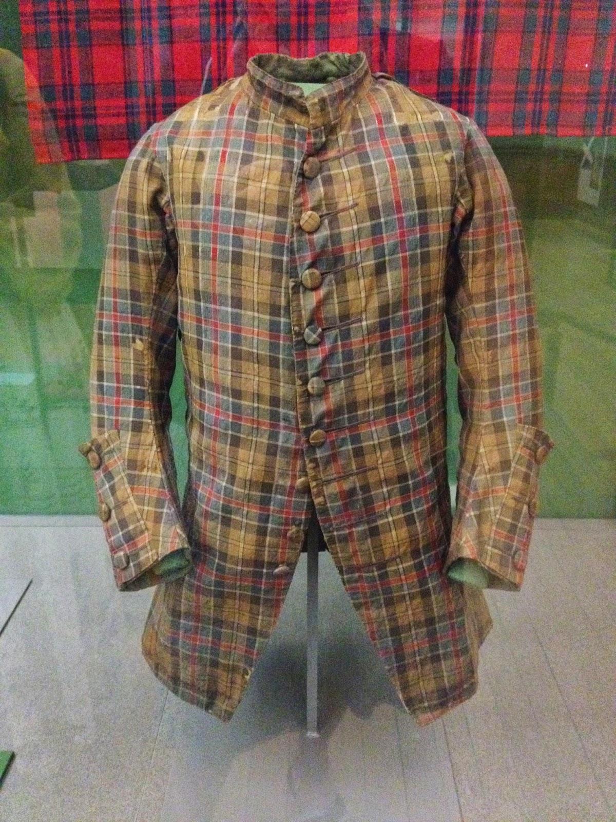 Old Tartan Coat At Kelvingrove Museum