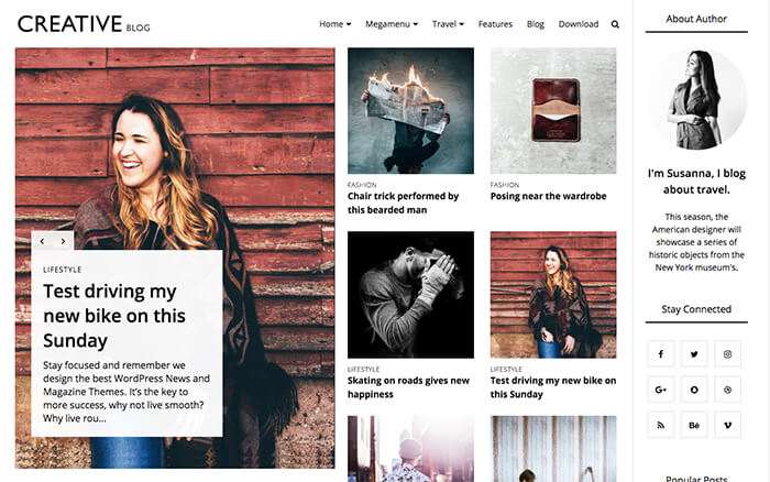 Responsive Free Blogger Templates 2018 - fashion blogger templates