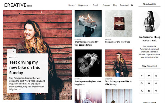 Creative Blogger Template | OddThemes