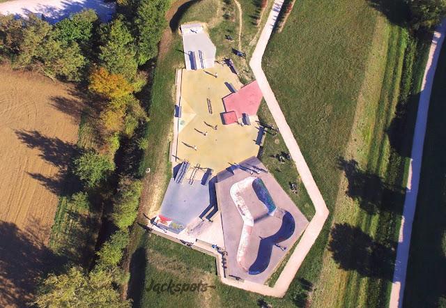 Vue aérienne skatepark Saint-Orens