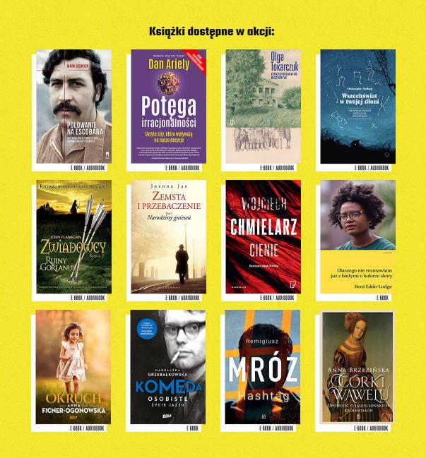 Okładki książek dostępnych w akcji Czytaj PL