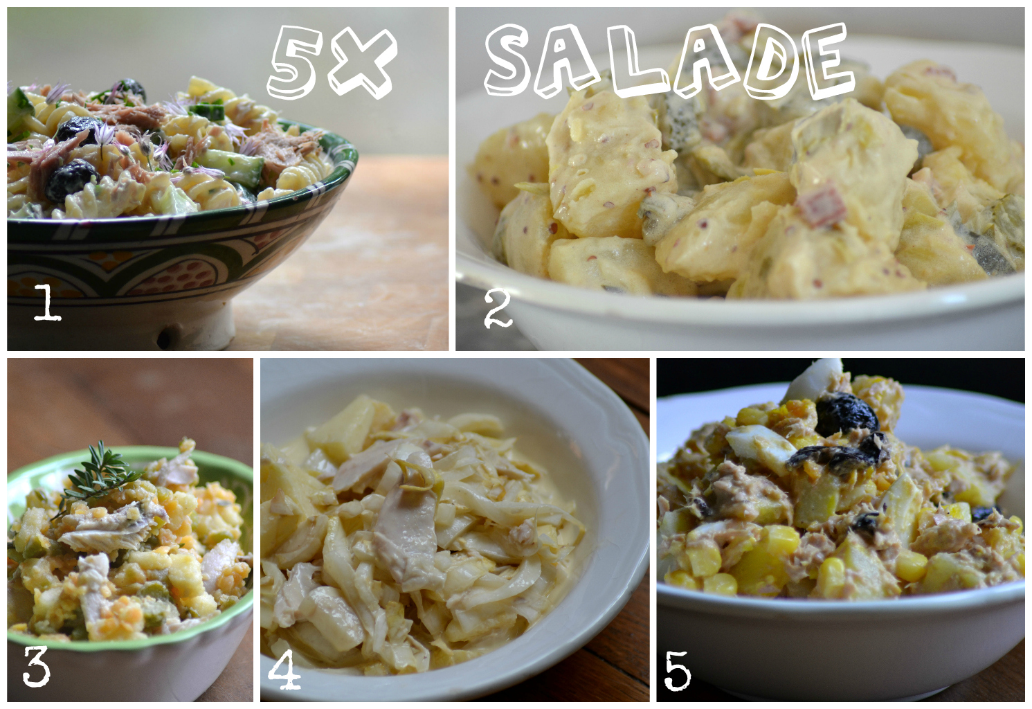 Op zoek naar inspiratie voor een lekkere salade? Wij hebben vijf suggesties voor je.