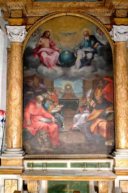 Glorification of the Eucharist, Bonaventura Salimbeni, art from 1600