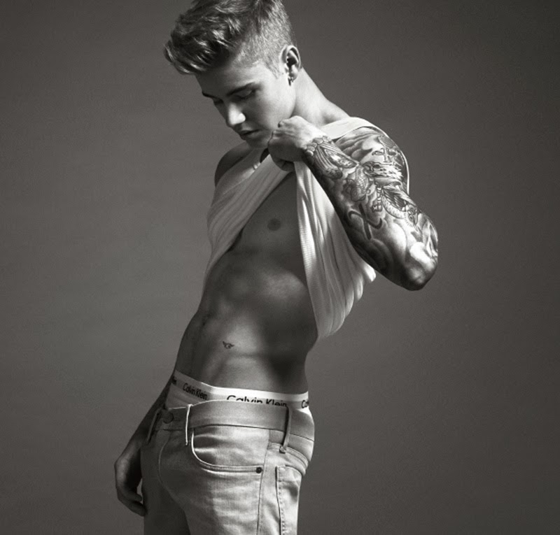 Full Sized Photo of justin bieber strips to his underwear