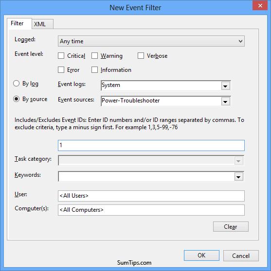 Task Scheduler Edit Events