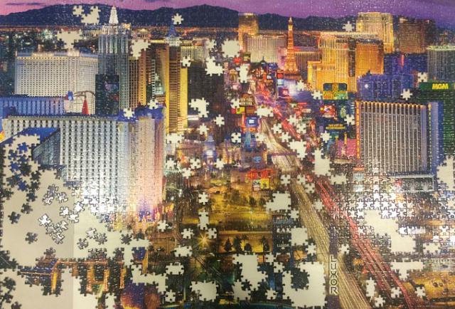 Souvenirs de quebra-cabeça da Strip em Las Vegas