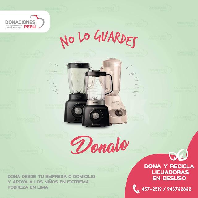 Dona Licuadoras - Recicla Licuadoras - Recicla objetos - Dona y recicla - Recicla y dona