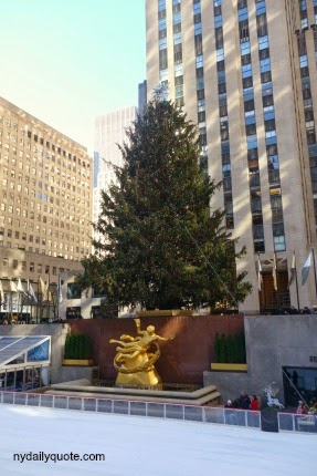 New York Quotes Christmas Tree Star