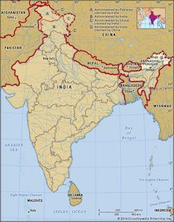 china india bhutan borders