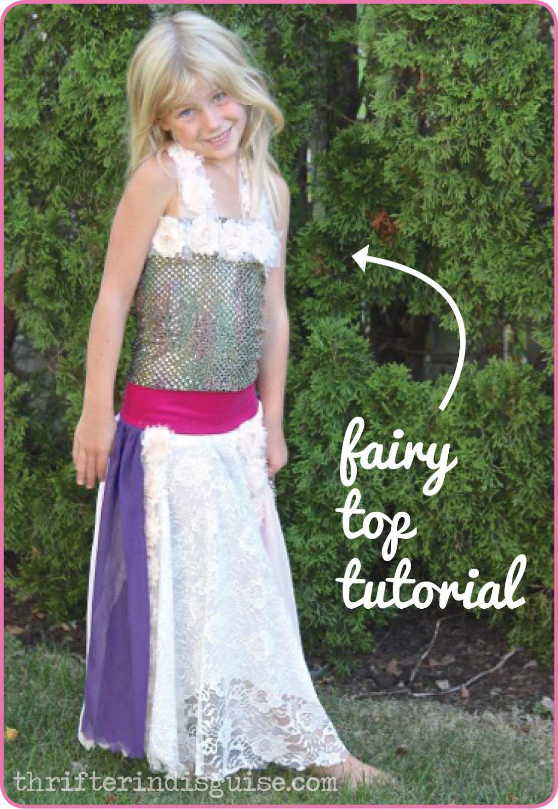 A Thrifter In Disguise: DIY Fairy Costume {Part 2