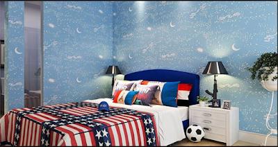 Desain Motif Wallpaper Kamar Tidur Anak Terbaik 2018 12