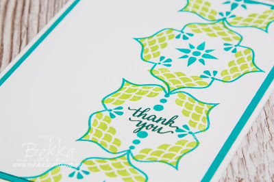 Cheerful Eastern Beauty Thank You Card.  Buy Stampin' Up! UK here