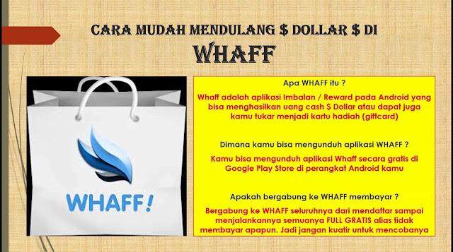 Pulsa Gratis dari WHAFF