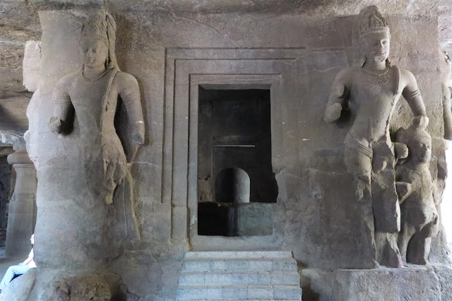 Lingam In Cave 1 of Elephanta Cave