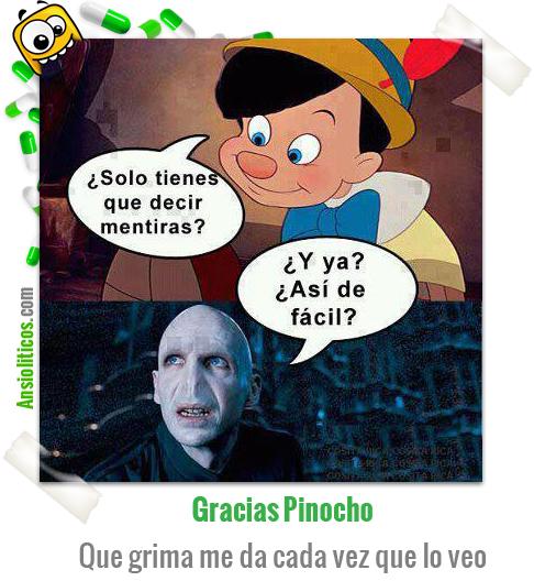 Chiste de Pinocho y Lord Voldemort