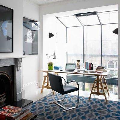 home office integrado a decoração