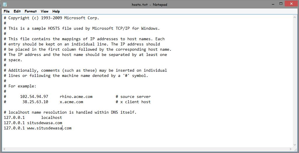 Cara Memblokir Website Pada Komputer Tanpa Software