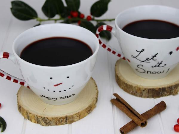 DIY + Rezept: Weihnachtlich bemalte Tassen und leckeren Glühwein ganz einfach selber machen + Gewinnspiel mit EMSA