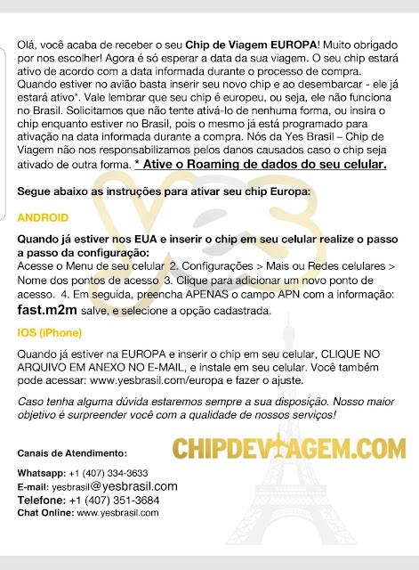 Blog Apaixonados por Viagens - Chip Internacional - Yes Brasil - Europa
