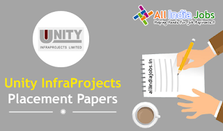 Unity Infraprojects Placement Papers