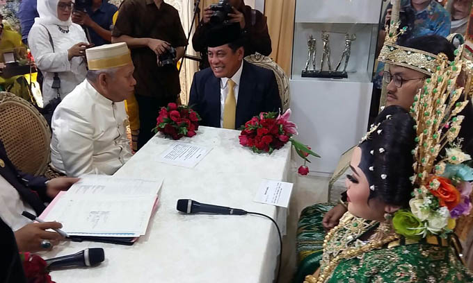 NH-Aziz Jadi Saksi Pernikahan Puteri Muhammad Yasir