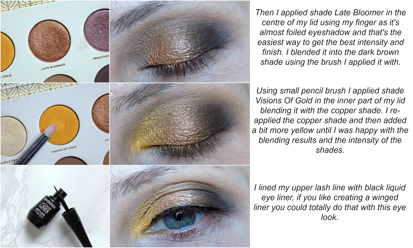 Eye look tutorial created with Zoeva Blanc Fusion palette