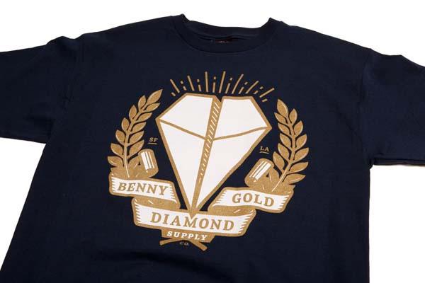 camiseta azul benny gold diamond