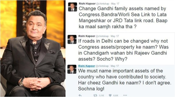 social media hacks, rishi kapoor controversial tweets
