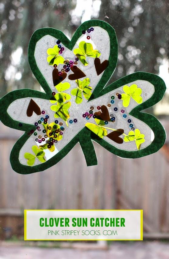 St. Patrick's Day Clover Sun Catchers
