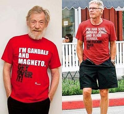 Lustige alternde Prominente - witziger T-Shirt Spruch