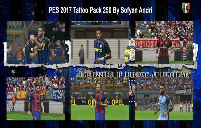 PES 2017 Tattoo Pack 250 dari Sofyan Andri