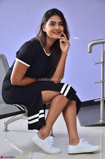 Actress Neha Deshpandey in Black Short Dress ~  Exclusive 006.jpg