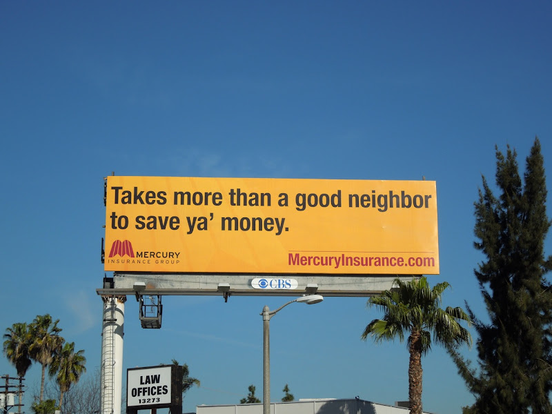 Mercury Good neighbor billboard