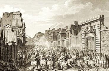 Gravure Attroupement au faubourg Saint-Antoine, le 28 avril 1789
