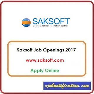 Saksoft Hiring Freshers Java Developer Jobs in Chennai/Noida Apply Online