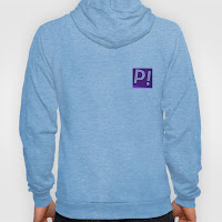 Papoose Blue Fleece Hoodie Logo on Back