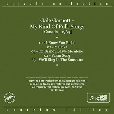 Gale Garnett - My Kind of Folk Songs (1964)