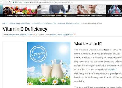 Nội dung gốc về vai trò của vitamin D trên medicine.net