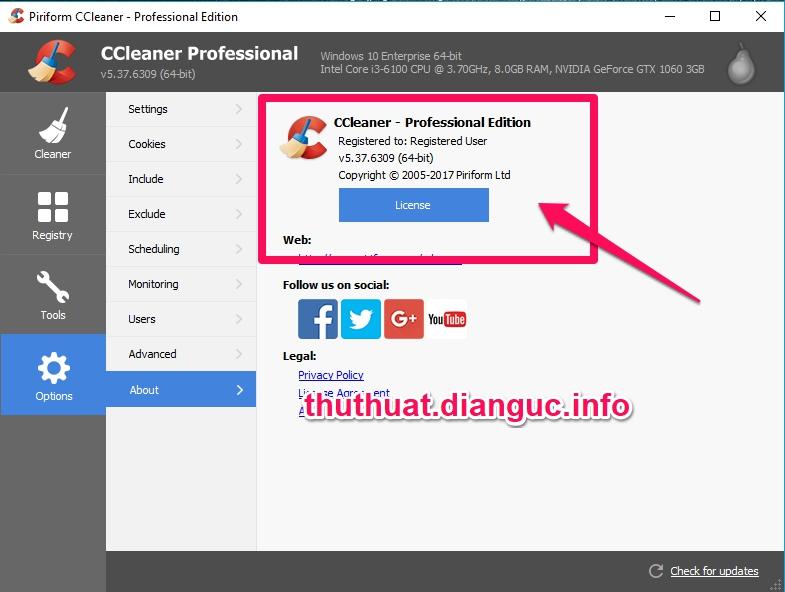 Download CCleaner v5.37.6309 Full Key miễn phí mới nhất