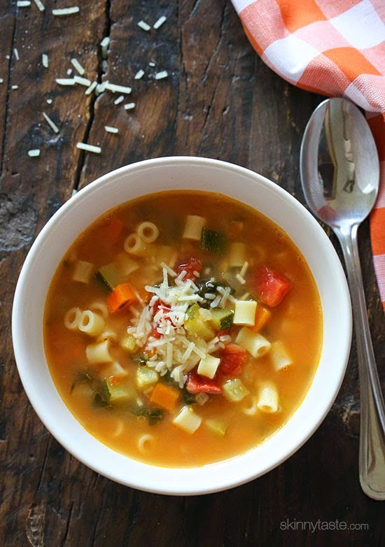 The Best Slow Cooker Soups with Pasta featured on slowcookerfromscratch.com