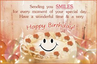 sending happy birthday smiles for girlfriend