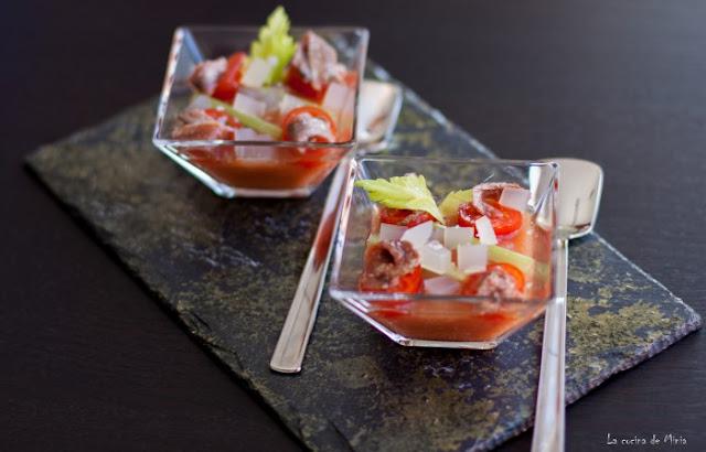 Bloody Mary de cuchara - La cocina de Minia