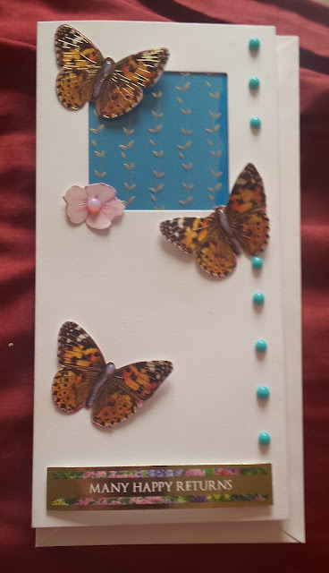 Kaleidoscope of butterflies Birthday DL aperture card