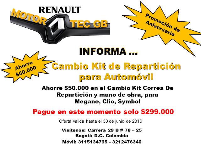 Cambio Kit de Repaticion para Automovil - Taller automotriz Bogota